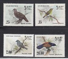 Sri Lanka 1983  Birds Sc 691-694  Complete Mint Never Hinged