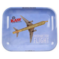 Raw Large Metal Rolling Tray Set, King Size Papers And Tips - Tray flight