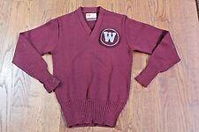 Vintage 1940's Washington State WSU Cougars Varsity Wrestling Letterman Sweater