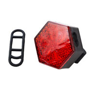 USB Bike Rear Tail Light LED Bicycle Warning Safety Smart Rechargeable Rear Lamp