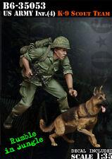 Bravo*6 1/35 B6-35053 US Army Inf. (4) K9 Scout Team (Vietnam War) - 1 Fig & Dog