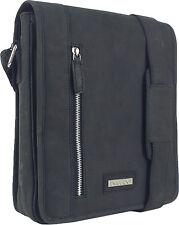 UNICORN Real Leather iPad, Kindle, Tablets & Accessories Messenger Bag Black #5K