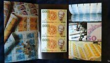 New listing 1984 Israel - 3 Uncut Gilda 10000 Banknotes in Folder