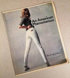 1966 WRANGLER JEANS Special Advertising Insert Section Booklet NEW YORK TIMES