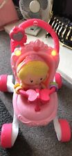 Fisher Price Dolls Pram Baby Walker With Doll Lights And Music