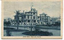 1932 Ostia Mare Viale della Marina Guller Lido Roma dest. Lucca FP B/N VG ANIM