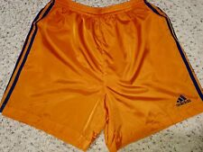 Rare Adidas Nylon Taffeta Shorts Silky Like The Pants Orange Blue Stripes Large