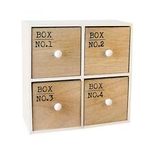 Boîte Schubladenbox Tiroirs en bois à encastrement à bijoux babioles