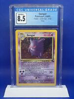 Pokemon WOTC Fossil Unlimited 5/62 Gengar HOLO Rare Graded CGC 8.5 PSA RDY