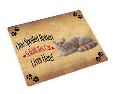 Spoiled Rotten Selkirk Rex Dog Tempered Cutting Board (Large) Db1524