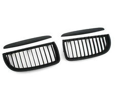Black Front Kidney Grill Grilles For BMW 05-08 Sedan Wagon E90 E91 320i-335i eta
