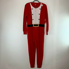 Womens Jammies For Families Christmas One Piece Pajama Red Santa Size S NWT