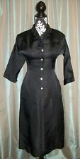 VTG 50s GABERDINE MARILYN WIGGLE BOMBSHELL PINUP PENCIL ROCKABILY COCKTAIL DRESS