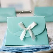 8x Wedding Party Tiffany Blue Bomboniere Favour Boxes / Lolly Loot Bag Boxes