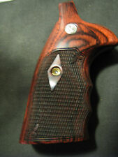 Smith Wesson N-Frame Diamd/Checkrd Rosewood SQUARE-BUTT ONLY FG OS Grips w/MEDS