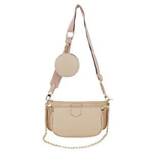 Women's designer made 3 size multi pocket Shoulder messenger bag