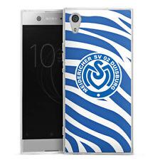 Sony Xperia XA1 Silikon Hülle Case - Blaues Zebra MSV