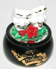 The San Francisco Music Box Company Comedy Tragedy Musical Snow Statue Figurine