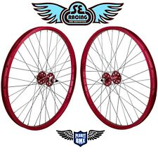 "SE Racing 24"" x 1.75"" BMX sealed bearing WHEELSET pk ripper quadangle RED new"