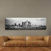 Los Angeles Framed Wall Picture Art Print Black And White Stretched Canvas Home