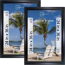 Mainstays 24x36 Wide Black Poster and Picture Frame, Set  W