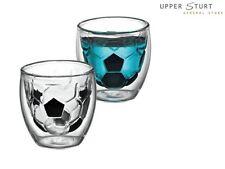 Avanti Best Shot Twin Wall Glasses 80ml Soccer Alcohol Scotch Coffee Set 2