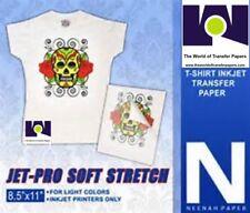 Neenah Jet Pro SofStretch Inkjet Heat IronOn Transfer Paper 8.5 x 11 (25 Sheets)