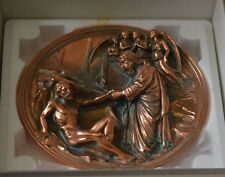 Studio Dante Di Volteradici Collector Plate God Creates Adam in Bronze Sale