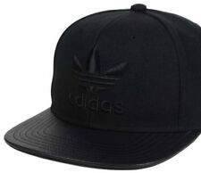 Adidas Original Snapback Cap Hat |BLACK| Trefoil Logo |Adjustable FREE Postage