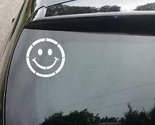 Smiley Face Funny Car/Window JDM VW EURO DUB DRIFT Vinyl Decal Sticker