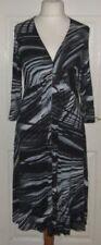 3/4 Sleeve Viscose Dresses A-Line