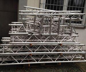 Messestand Traversensystem 5m x 10m globales EURO AluTruss 3-Punkt Konus wie neu
