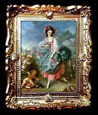 BEAUTIFUL MINIATURE PICTURE / WALL ART FOR DOLLS HOUSE / ROOM BOX. No.0005