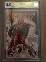 Marvel Avengers 57 CGC Signature Series 8.5 1st App Vision Signed By Roy Thomas