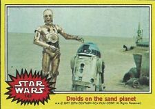 1977 Topps Star Wars Yellow #143 Droids On The Sand Planet > R2-D2 C-3PO > EX-MT
