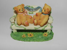 CHERISHED TEDDIES CRT240 TOW BEARS ON BENCH RETIRED BOXED EVENT FIGURINE