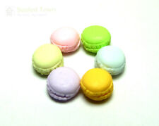 6pc Dollhouse Miniature Kitchen Food Dessert Tea Time Snack French Macaroon 1:12