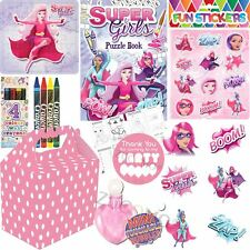 Girls Pink Personalised Wedding Activity Pack Favour Gift Party Bags Kids Favors