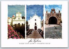 las Inglesias Viejo San Juan, Puerto Rico Churches Continental Postcard Unused