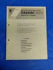 YASKAWA YASNAC MX1 CNC OPERATOR MANUAL TOE-C843-7.30