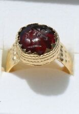 Roman Onyx Bronze gold plated Intaglio Signet Seal Ring