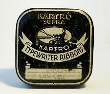 Nice KARTRO SUPRA Typewriter Ribbon Tin 1930's