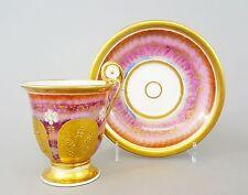 #C11 Biedermeier Empire- Tasse Glockenbecherform Frankreich viel Gold