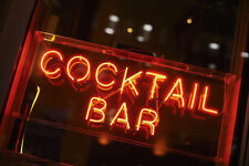"""14""""x6""""COCKTAIL BAR Neon Sign Light Beer Pub Open Wall Decor Visual Artwork Gift"""