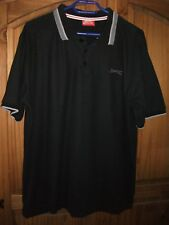 Mens Slazenger Black Polo Top / T-Shirt Casual Top - Size Small