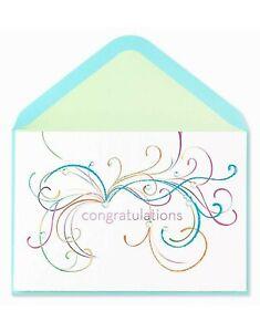 Papyrus Congratulations Card -Glitter & Gem Flourishes & Swirls - You're Amazing