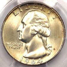 1964-D Washington Quarter 25C - Certified PCGS MS66+ PQ Plus Grade - $285 Value
