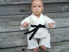 KARATE ANZUG für Puppen Gr. 30-33 Planscherle Badepuppe Bambina Gi Judo Aikido
