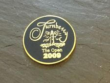 2009 BRITISH OPEN TURNBERRY Logo GOLF BALL MARKER New Flat Coin STEWART CINK