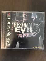 Resident Evil 3: Nemesis (Sony PlayStation, 1999) ✅CIB/Complete ✅Tested